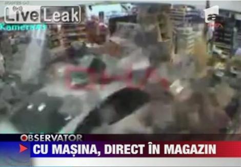 VIDEO! Turcia: O soferita a distrus in intregime un magazin