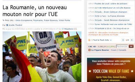 """Le Figaro: """"Romania, o noua oaie neagra a UE"""""""