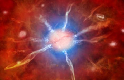 """Astronomii au descoperit un roi galactic urias, ce """"produce"""" stele pe banda rulanta"""