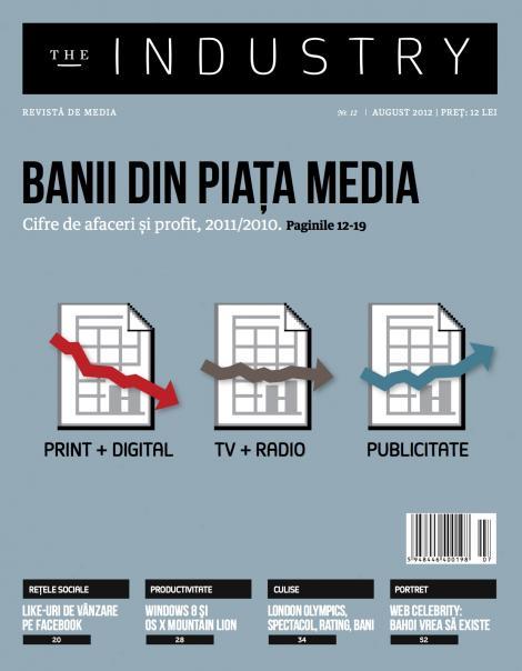 """Cifre de afaceri ale marilor grupuri media, Windows 8 si povestea lui Bahoi, in noul numar al revistei """"The Industry"""""""