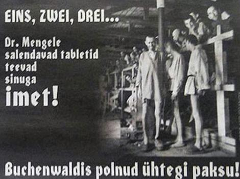 O fotografie cu evrei din lagarele naziste, folosita intr-o reclama la pastile pentru slabit