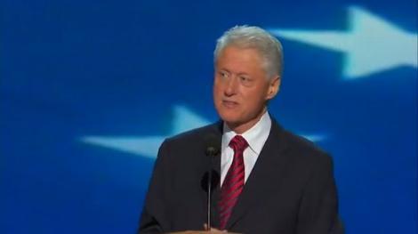 Bill Clinton l-a nominalizat pe Barack Obama drept candidat la presedintia SUA
