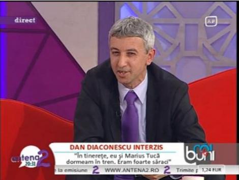 "Dan Diaconescu face dezvaluiri: ""Eu si Marius Tuca eram atat de saraci incat dormeam in tren"""