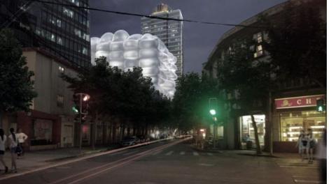 Shanghai: O cladire gonflabila tine microbii deoparte!