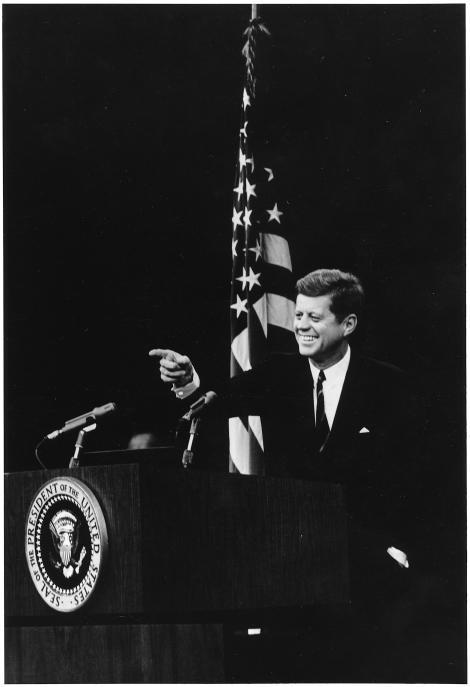 John Kennedy, omagiat de Barack Obama şi Bill Clinton