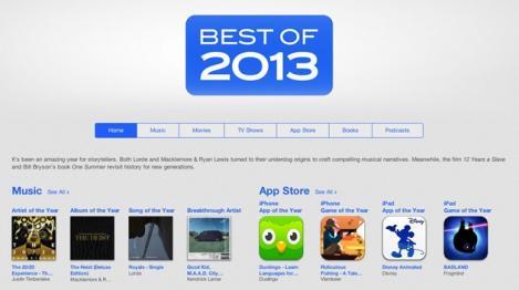 Apple: Top cele mai populare aplicaţii, albume şi artişti în 2013