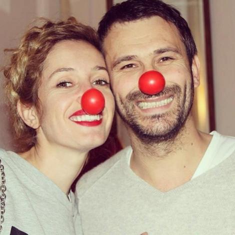 FOTO! Nicolai Tand şi soţia lui, doi reni simpatici