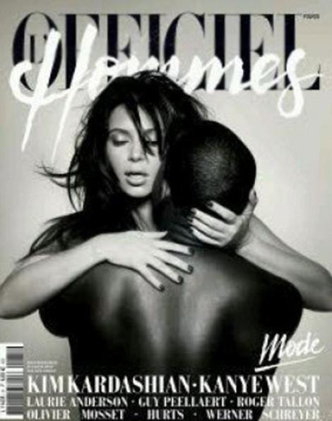 Kim Kardashian si Kanye West, goi intr-o revista franceza!