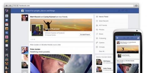 Facebook devine mai simplu si mai eficient prin noul update