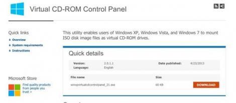 Microsoft lanseaza o aplicatie pentru CD-ROM-uri virtuale