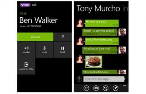 Viber ajunge cu tot ce trebuie pe Windows Phone 8