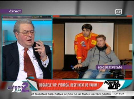 """Corneliu Vadim Tudor il ataca dur pe Piturca pentru declaratia referitoare la Nesu: """"Vezi sa n-ajungi si tu in scaun cu rotile. Iti rup eu picioarele"""""""