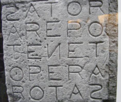 SATOR AREPO TENET OPERA ROTAS. Povestea primelor cuvinte incrucisate, ingropate de lava Vezuviului