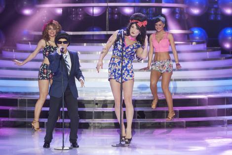 "Mihai Bendeac si Ioana Anuta, duet de senzatie la ""Te cunosc de undeva""! S-au transformat in Amy Winehouse si Bruno Mars!"