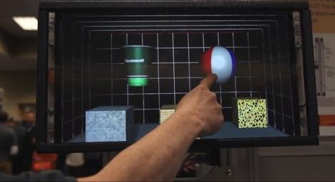 Microsoft Research demonstreaza un touchscreen capabil de feedback
