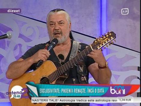"""PREMIERA! Nicu Covaci, un nou album, o noua renastere Phoenix: """"rasturnarea scarii de valori din Romania"""""""