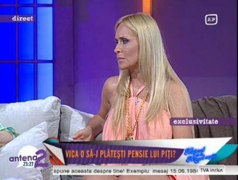 Vica Blochina a aflat din presa ca Piturca vrea sa ii ia copilul
