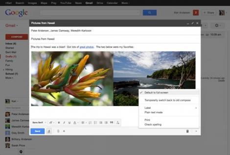 Gmail face schimbari pentru compunerea de emailuri