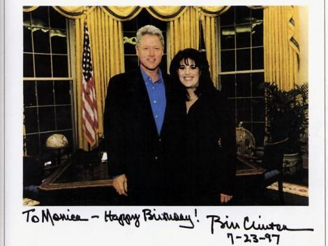 """Dezvaluire scandaloasa! Mesajul lui Monica Lewinsky pentru Bill Clinton, dupa despartire: """"As putea sa ma dezbrac pentru tine..."""""""