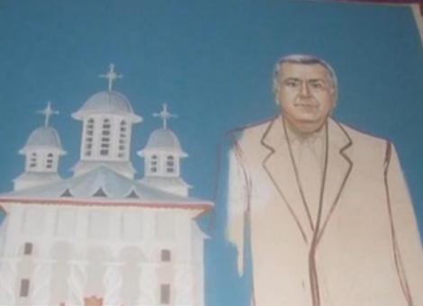 Primarul din Zimnicea, pictat pe peretii unei biserici, printre sfinti!