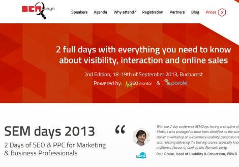 Ultimele zile pana la SEM Days 2013: cum se promoveaza acum afacerile online si ce sfaturi dau specialistii