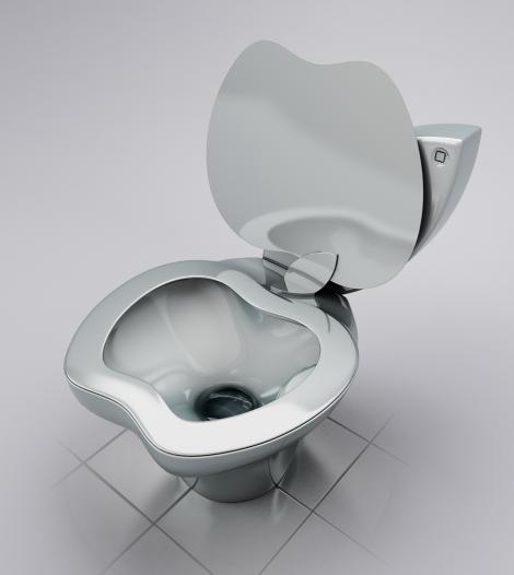 FOTO! Ultima fita de la New York: Toaleta Apple!
