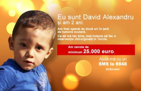 David riscă să-şi piardă vederea, copilul suferă de neurofibromatoză