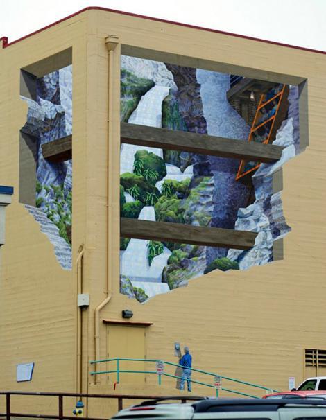 FOTO: Artistul care transformă clădirile în opere de artă! Picturile sale 3D sunt senzaţionale