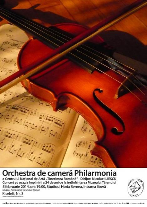Orchestra de cameră PHILARMONIA, concert extraordinar cu ocazia împlinirii a 24 de ani de la (re)înființarea Muzeului Țăranului