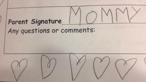 FOTO! Cea mai drăguţă încercare de a falsifica o semnătură