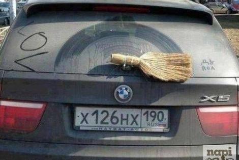 Cocalarul din Rusia loveşte din nou! Şefii de la BMW ar plânge dacă ar vedea ce ACCESORIU are X5-ul ăsta