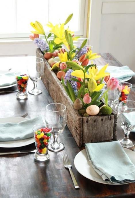 FOTO! Idei de decorațiuni pentru masa de Paște