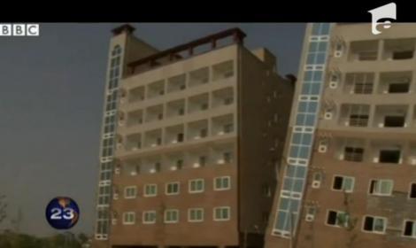 O clădire din Coreea de Sud s-a înclinat mai ceva ca turnul din Pisa