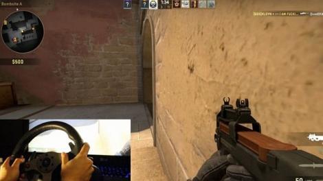 Volanul Logitech G25 poate fi folosit și pentru Counter Strike