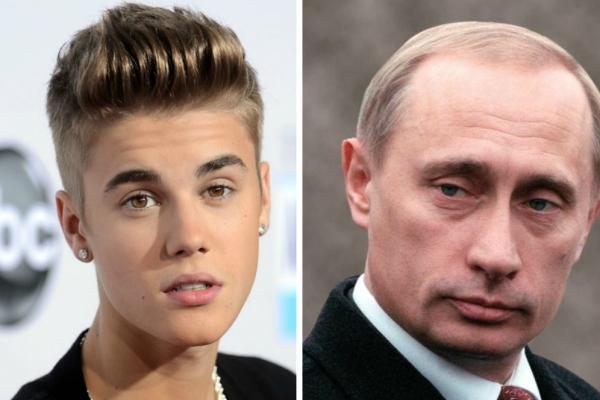 FOTO! NU te așteptai la așa ceva! Incredibil ce îi unește pe Justin Bieber și Vladimir Putin!