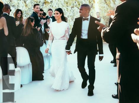 Galerie FOTO! Toată lumea aştepta să-i vadă! Primele imagini de la nunta lui Kim Kardashian şi Kanye West