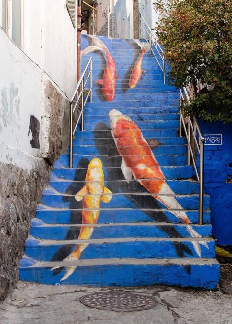 TOP 10 ! Chiar un amar de reporter virtual de ești, picturile de pe aceste scări ți se vor arăta frumoase!