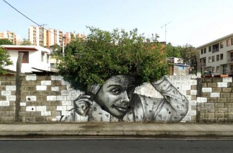 Galerie foto! Efectul SPECTACULOS pe care îl are întâlnirea dintre arta străzii şi natură