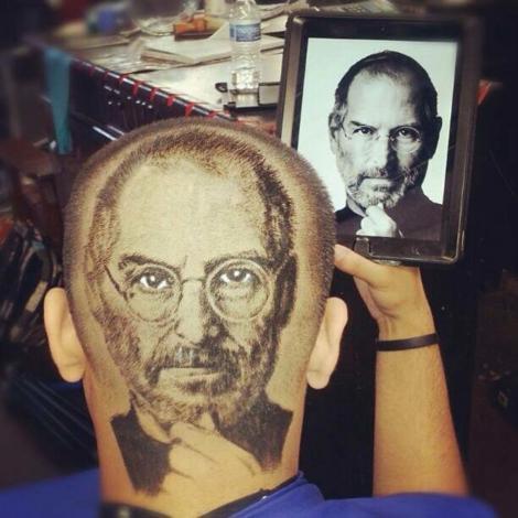 Galerie FOTO IMPRESIONANTĂ: Face portretele celebrităţilor în părul clienţilor săi