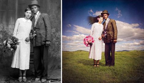 Poze alb-negru ale unui român din secolul XX, transformate spectaculos