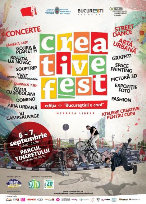 Creativitate și culoare în Parcul Tineretului Picturi 3D pe asfalt, Graffiti și Space Art la prima ediție Creative Fest