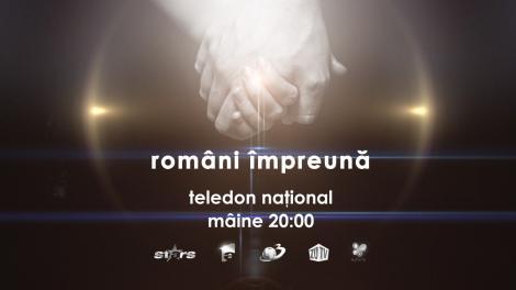 """Duminica, ora 20:00, posturile de televiziune Intact organizeaza teledonul national """"Români împreună"""""""
