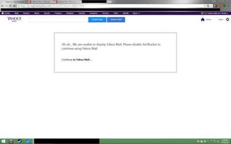 Yahoo v-ar putea interzice accesul la mail dacă blocați reclamele