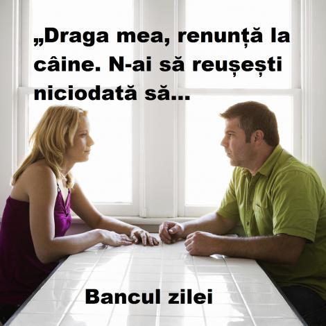 Bancul zilei: Ceartă în familie. Soția are argumentul suprem!