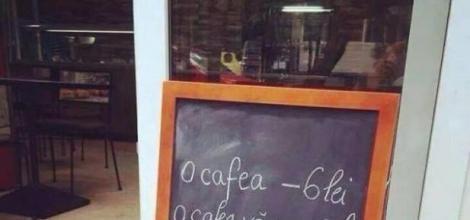 Mesajul genial dintr-o cafenea din Braşov! Imaginea a devenit virală şi a fost răspândită în toată ţara!