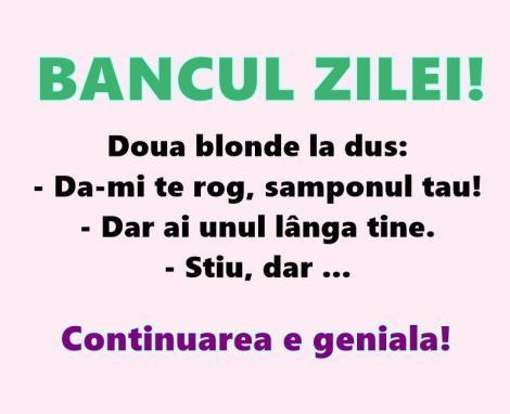 Bancul zilei: Două blonde la duș