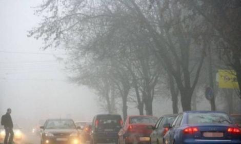 Cod galben de ceață în mai multe județe! Care sunt zonele afectate