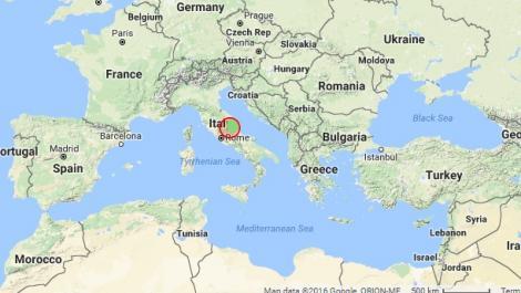 Italia s-a zguduit din nou! Cutremur de 4.4 grade pe scara Richter în centrul Peninsulei