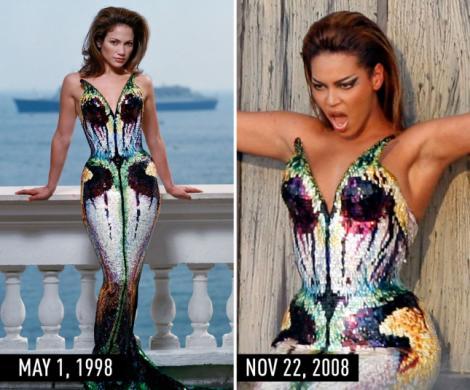 Mai evident de atât nu se poate! Momentele în care Beyonce a COPIAT-O pe Jennifer Lopez