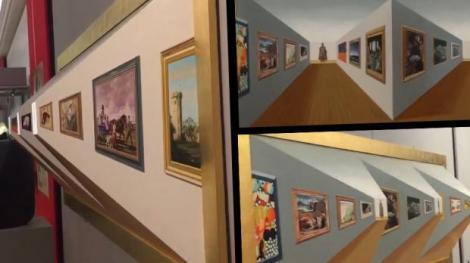 VIDEO: Aceasta este cea mai tare iluzie optică! Privește cu atenție imaginile din clip: Care este cel mai apropiat tablou pe care îl vezi?